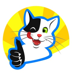 Happy cat vector image vector image