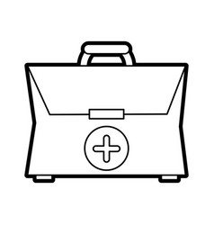 medical briefcase vector image vector image