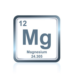 chemical element magnesium from the periodic table vector image vector image