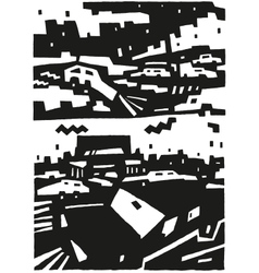 City and cars - abstract background vector