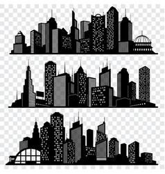 cityscapes town skyline buildings big city vector image vector image