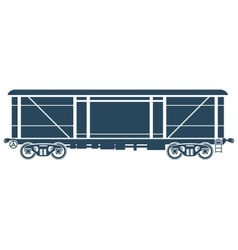 Covered Railway freight car - vector image vector image