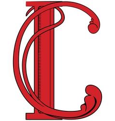 decorative c vector image