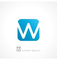 letter w vector image