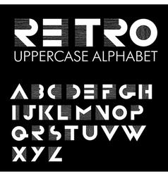 retro alphabet black vector image vector image