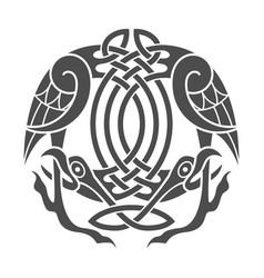 celtic eagle ethnic ornament vector image vector image