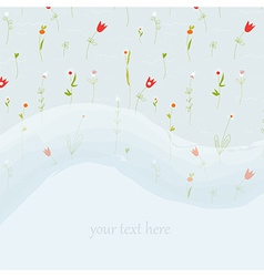 Elegant floral greeting card for wedding or vector image vector image