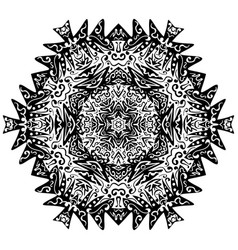 indian ornament kaleidoscopic floral mandala vector image