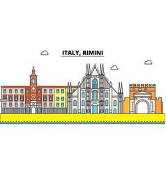 italy rimini outline city skyline linear vector image vector image