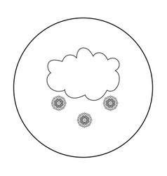 Snowfall icon in outline style isolated on white vector
