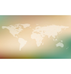 stylized map of world world map concept on vector image
