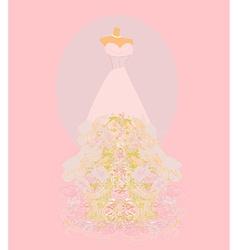 Wedding dress for wedding invitations vector