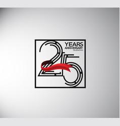 25 years anniversary logotype flat style vector
