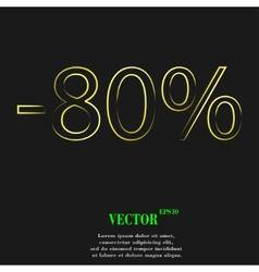 80 percent discount icon symbol Flat modern web vector image