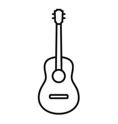 Acoustic guitar icon outline style vector