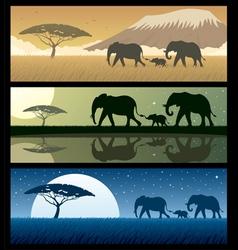 Africa landscapes 2 vector