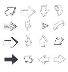 arrows sketch drawing vector image