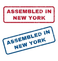 Assembled In New York Rubber Stamps vector