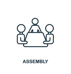 Assembly icon from production management vector