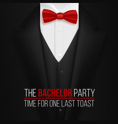 Bachelor party invitation template realistic vector