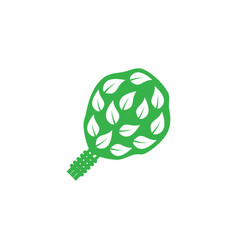 birch broom icon on white background vector image