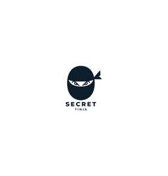black head ninja simple modern logo design vector image