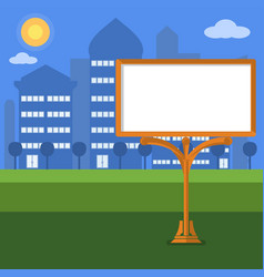 blank billboard in the city flat style vector image