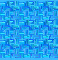 blue geometrical striped triangle pattern - tile vector image