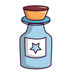 bottle of magic icon cartoon style vector image