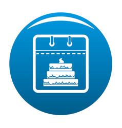 Calendar birthday icon blue vector