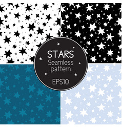Collection of seamless textures starry sky vector