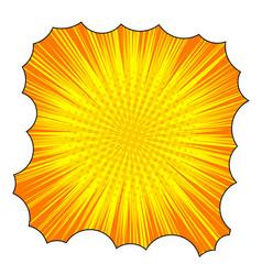 comic explosive orange template vector image