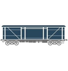 Covered railway freight car - vector