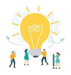 creative idea business innovation teamwork vector image