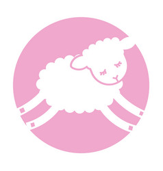 cute lamb character icon vector image vector image