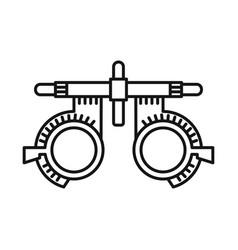 Design glasses and corrective symbol vector