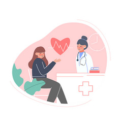 doctor taking care patient medical exam check vector image