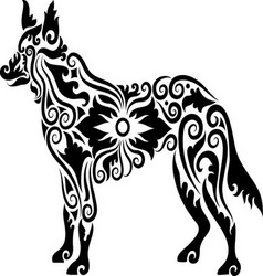 Dog tattoo 2 vector