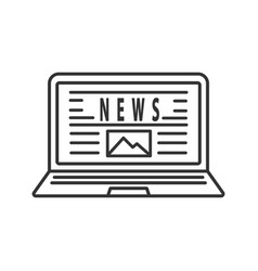 electronic newspaper linear icon vector image