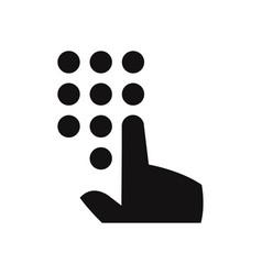 enter password icon vector image