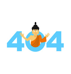 Error 404 surprisingly buddha page not found vector