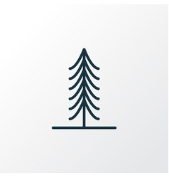 fir icon line symbol premium quality isolated vector image