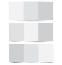 folded brochure paper mockup cardboard flyer vector image