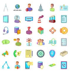 Good economy icons set cartoon style vector