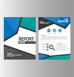 Green blue Black brochure flyer leaflet layout vector
