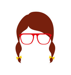 hair braid glasses isolted design vector image