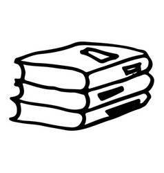 hand drawn book doodle icon isolated on white vector image