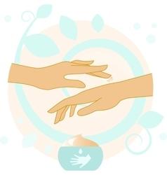Hands With Cream vector