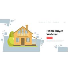 Home buyer webinar information for choosing house vector