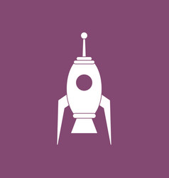 Icon space rocket vector